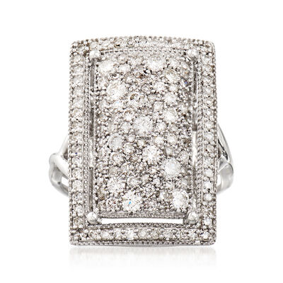 1.54 ct. t.w. Diamond Rectangle Ring in 14kt White Gold, , default