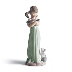 "Lladro ""Don't Forget Me"" Porcelain Figurine , , default"