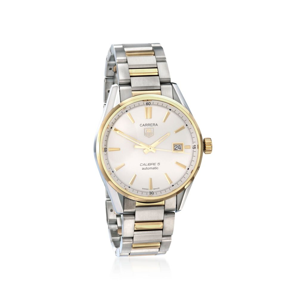 268a5da82106 TAG Heuer Carrera Men s 39mm Stainless Steel and 18kt Yellow Gold Watch