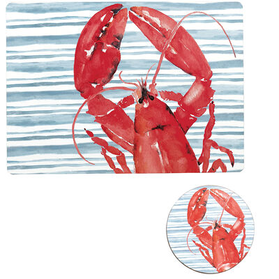 Red Lobster Set of 4 Placemats and Coasters