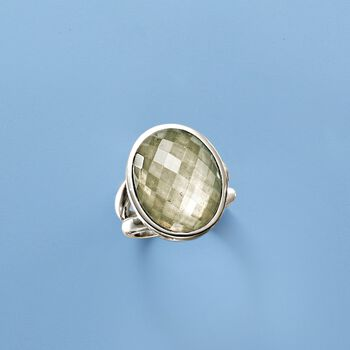 Pyrite Doublet Ring in Sterling Silver, , default