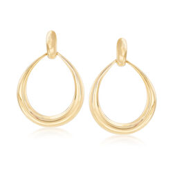 "Roberto Coin ""Oro Classic"" 18kt Yellow Gold Circle Drop Earrings, , default"