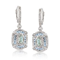 2.44 ct. t.w. Multi-Stone Drop Earrings in Sterling Silver, , default