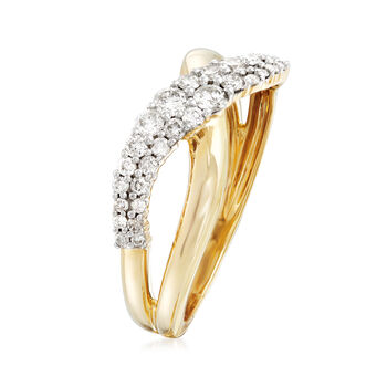 .46 ct. t.w. Diamond Crisscross Ring in 14kt Yellow Gold, , default