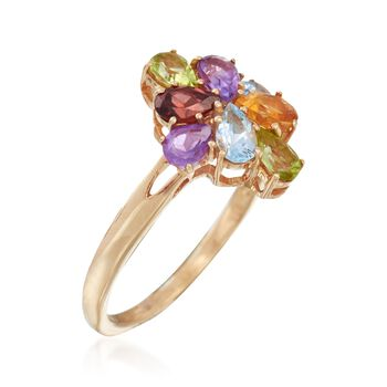 1.00 ct. t.w. Multi-Stone Cluster Ring in 18kt Rose Gold Over Sterling Silver, , default