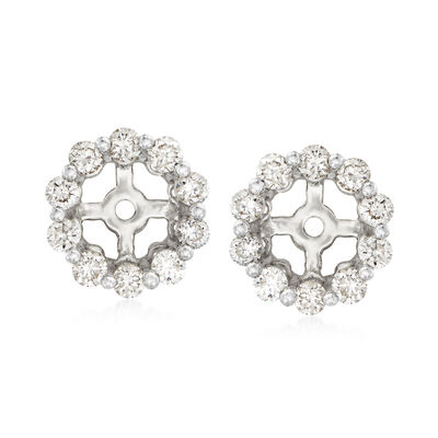 .40 ct. t.w. Diamond Earring Jackets in 14kt White Gold