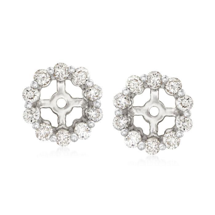 .40 ct. t.w. Diamond Earring Jackets in 14kt White Gold