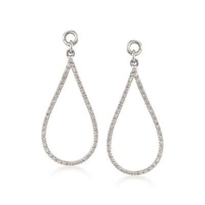 .26 ct. t.w. Diamond Open Teardrop Earring Jackets in Sterling Silver, , default
