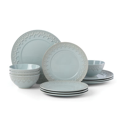 "Lenox ""Chelse Muse"" Fleur Blue Ironstone Dinnerware Set, , default"