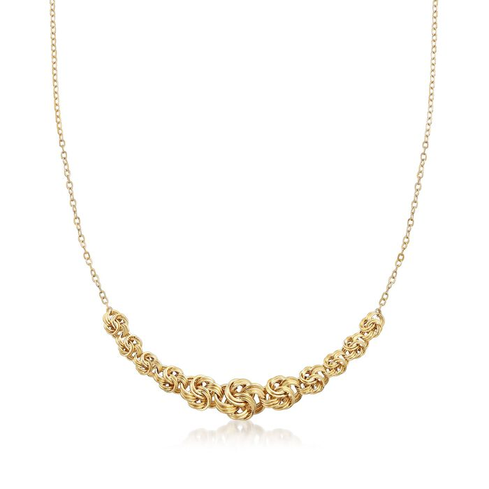 14kt Yellow Gold Rosette-Link Centerpiece Necklace