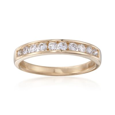 .50 ct. t.w. Channel-Set Diamond Ring in 14kt Yellow Gold, , default