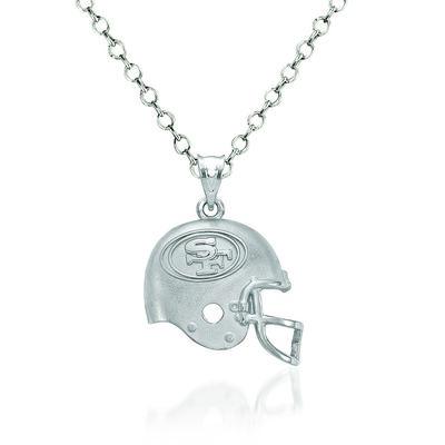 "Sterling Silver San Francisco 49ers Football Helmet Logo Pendant Necklace. 18"", , default"