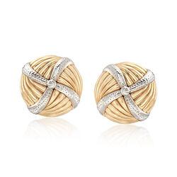 Pinwheel Earrings in 14kt Yellow Gold, , default