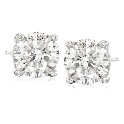 4.75 ct. t.w. Diamond Stud Earrings in 14kt White Gold, , default