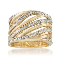.50 ct. t.w. Diamond Highway Ring in 18kt Gold Over Sterling, , default