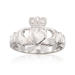 Sterling Silver Claddagh Ring, , default