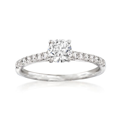 .66 ct. t.w. Diamond Engagement Ring in 14kt White Gold, , default