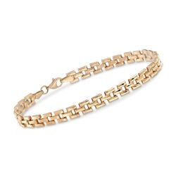 14kt Yellow Gold Panther-Link Bracelet, , default