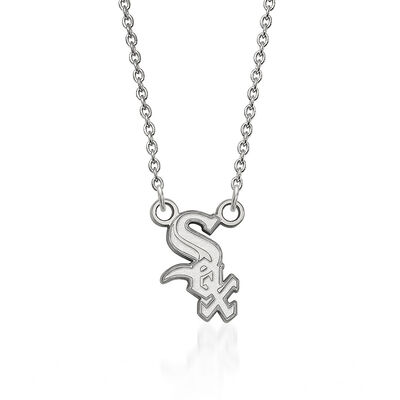 Sterling Silver MLB Chicago White Sox Pendant Necklace. 18""