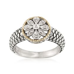 "Andrea Candela ""Andrea II"" Sterling Silver Ring With Diamonds and 18kt Gold, , default"