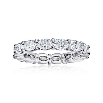 2.32 ct. t.w. Diamond Eternity Wedding Band in Platinum