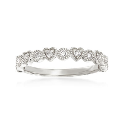 .25 ct. t.w. Diamond Heart and Circle Band in 14kt White Gold, , default