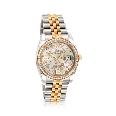 Pre-Owned Rolex Datejust Women's 36mm Automatic Stainless Steel Watch with 18kt Yellow Gold, , default