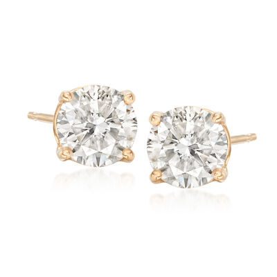 1.80 ct. t.w. Diamond Stud Earrings in 14kt Yellow Gold, , default