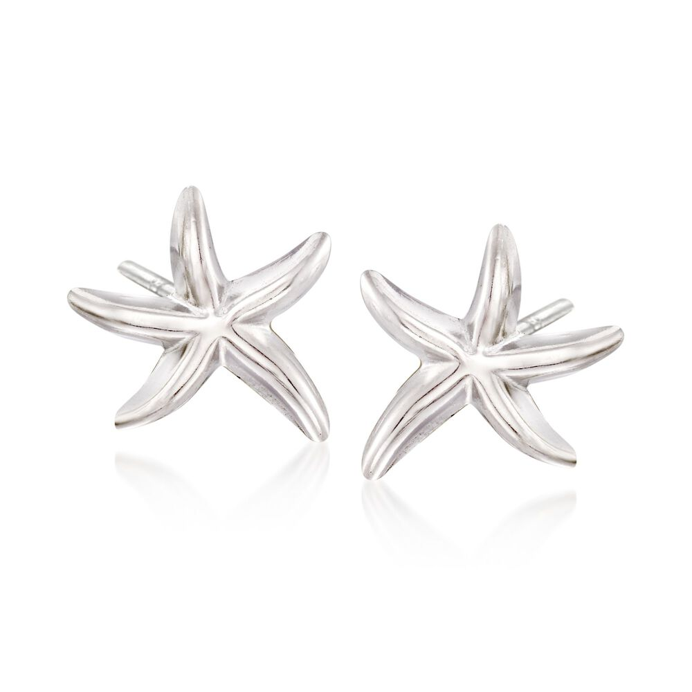 Sterling Silver Starfish Stud Earrings Default