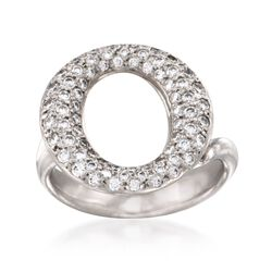 "C. 2000 Vintage Tiffany Jewelry ""Elsa Peretti"" 1.00 ct. t.w. Pave Diamond Ring in Platinum. Size 5.5, , default"