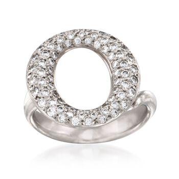 "C. 2000 Vintage Tiffany Jewelry ""Elsa Peretti"" 1.00 ct. t.w. Pave Diamond Ring in Platinum. Size 5.5, , default"