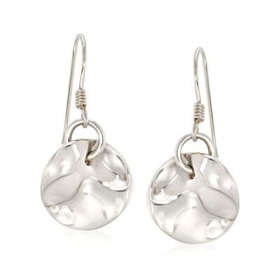 """Zina Sterling Silver """"Contemporary"""" Mobius Drop Earrings, , default"""