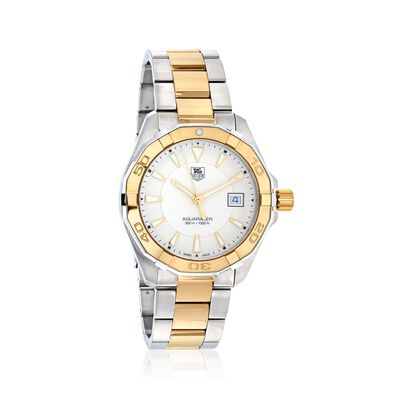 TAG Heuer Aquaracer Men's 40.5mm Stainless Steel and 18kt Gold Plate Watch, , default