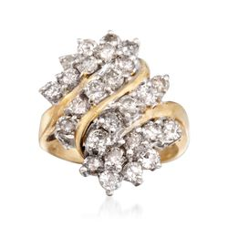 C. 1990 Vintage 2.00 ct. t.w. Diamond Ring in 10kt Two-Tone Gold. Size 6, , default