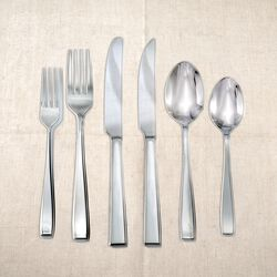 "Studio Silversmiths ""Chisel"" 18/0 Stainless Steel Flatware, , default"