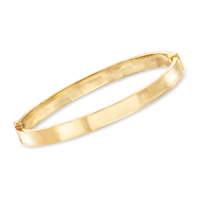 Italian 14kt Yellow Gold Bangle Bracelet, , default