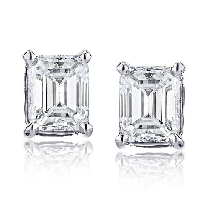 .95 ct. t.w. Certified Diamond Stud Earrings in Platinum