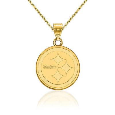 """14kt Yellow Gold NFL Pittsburgh Steelers Pendant Necklace. 18"""", , default"""
