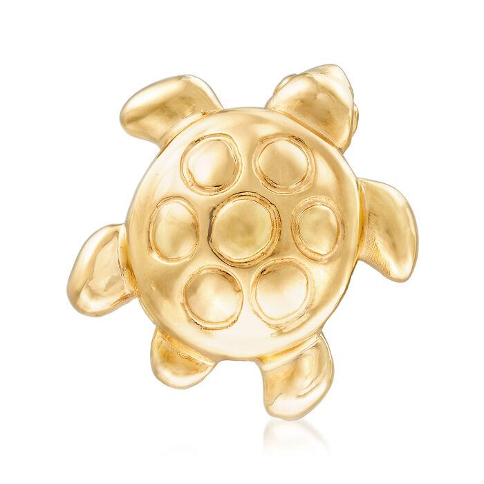 Italian 14kt Yellow Gold Turtle Pin, , default