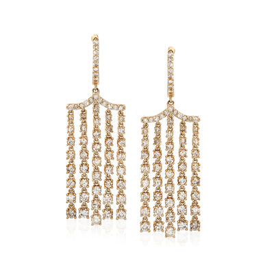 4.00 ct. t.w. Diamond Chandelier Drop Earrings in 14kt Yellow Gold, , default