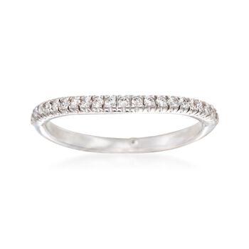 Gabriel Designs .16 ct. t.w. Diamond Curved Wedding Ring in 14kt White Gold, , default