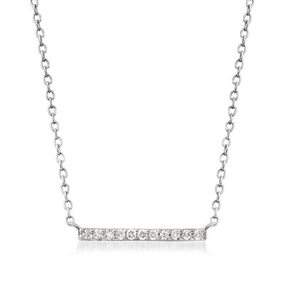 .10 ct. t.w. Diamond Bar Necklace in 14kt White Gold