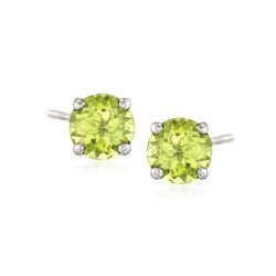 1.80 ct. t.w. Peridot Stud Earrings in 14kt White Gold, , default