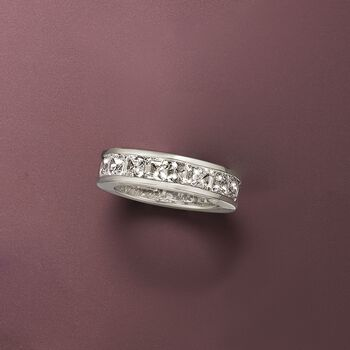5.15 ct. t.w. CZ Eternity Band in Sterling Silver, , default