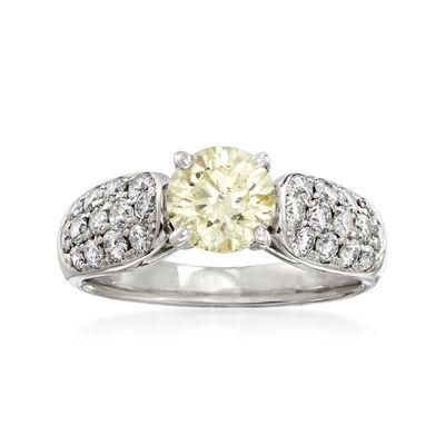 C. 1990 Vintage 1.76 ct. t.w. Diamond Ring in Platinum