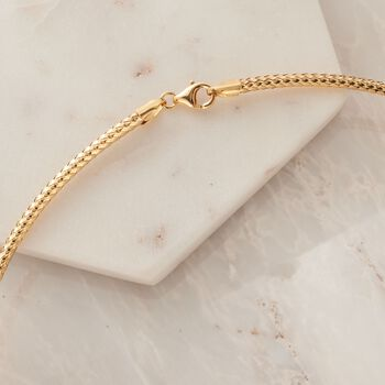 Italian 14kt Yellow Gold Braided Collar Necklace, , default