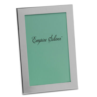 Empire Sterling Silver 4x6 Channel Back Picture Frame, , default
