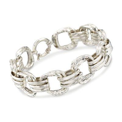Sterling Silver Multi-Link Bracelet, , default