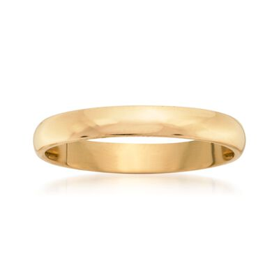 Women's 3mm 14kt Yellow Gold Wedding Ring