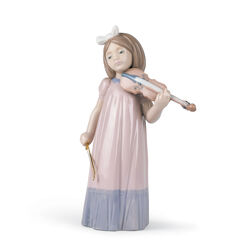 "Nao ""Girl With Violin"" Porcelain Figurine , , default"